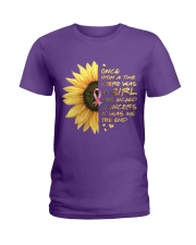 A Girl who kicked Cancers Ladies T-Shirt thumbnail