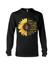 A Girl who kicked Cancers Long Sleeve Tee thumbnail
