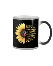A Girl who kicked Cancers Color Changing Mug tile
