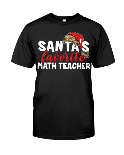 Math Teacher - Santa's Favorite - Plaid