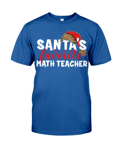 Math Teacher - Santa's Favorite - Plaid