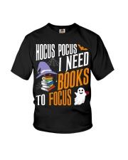 Hocus Pocus I need books to focus Youth T-Shirt thumbnail