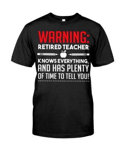 Warning Retired Teacher