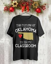 Teacher - Future of Oklahoma Classic T-Shirt lifestyle-holiday-crewneck-front-2