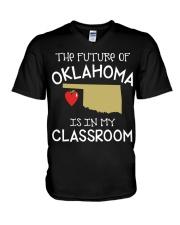 Teacher - Future of Oklahoma V-Neck T-Shirt thumbnail