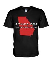 Georgia Teacher - Students I'll be there for you V-Neck T-Shirt thumbnail