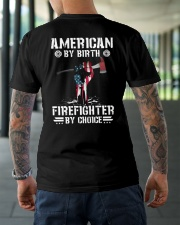 American by Birth - Firefighter by Choice Classic T-Shirt lifestyle-mens-crewneck-back-3