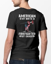 American by Birth - Firefighter by Choice Classic T-Shirt lifestyle-mens-crewneck-back-5