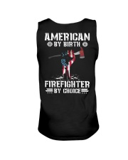 American by Birth - Firefighter by Choice Unisex Tank thumbnail