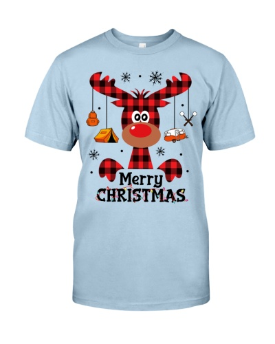 Camping - Merry Christmas - Reinderr Red Plaid