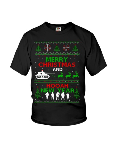 Veteran - Merry Christmas and Hooah New Year
