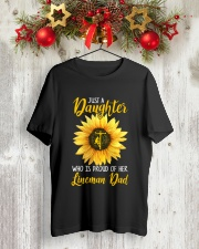 Lineman Dad - Just a Daughter Classic T-Shirt lifestyle-holiday-crewneck-front-2