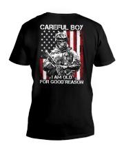 Veteran - I am Old V-Neck T-Shirt thumbnail