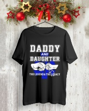 EMT - Daddy and Daughter - The Legend and Legacy Classic T-Shirt lifestyle-holiday-crewneck-front-2