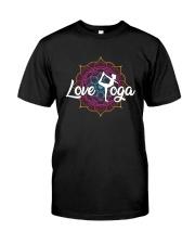 Love Yoga Classic T-Shirt front