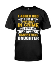 Nurse - Smartass Daughter Classic T-Shirt front