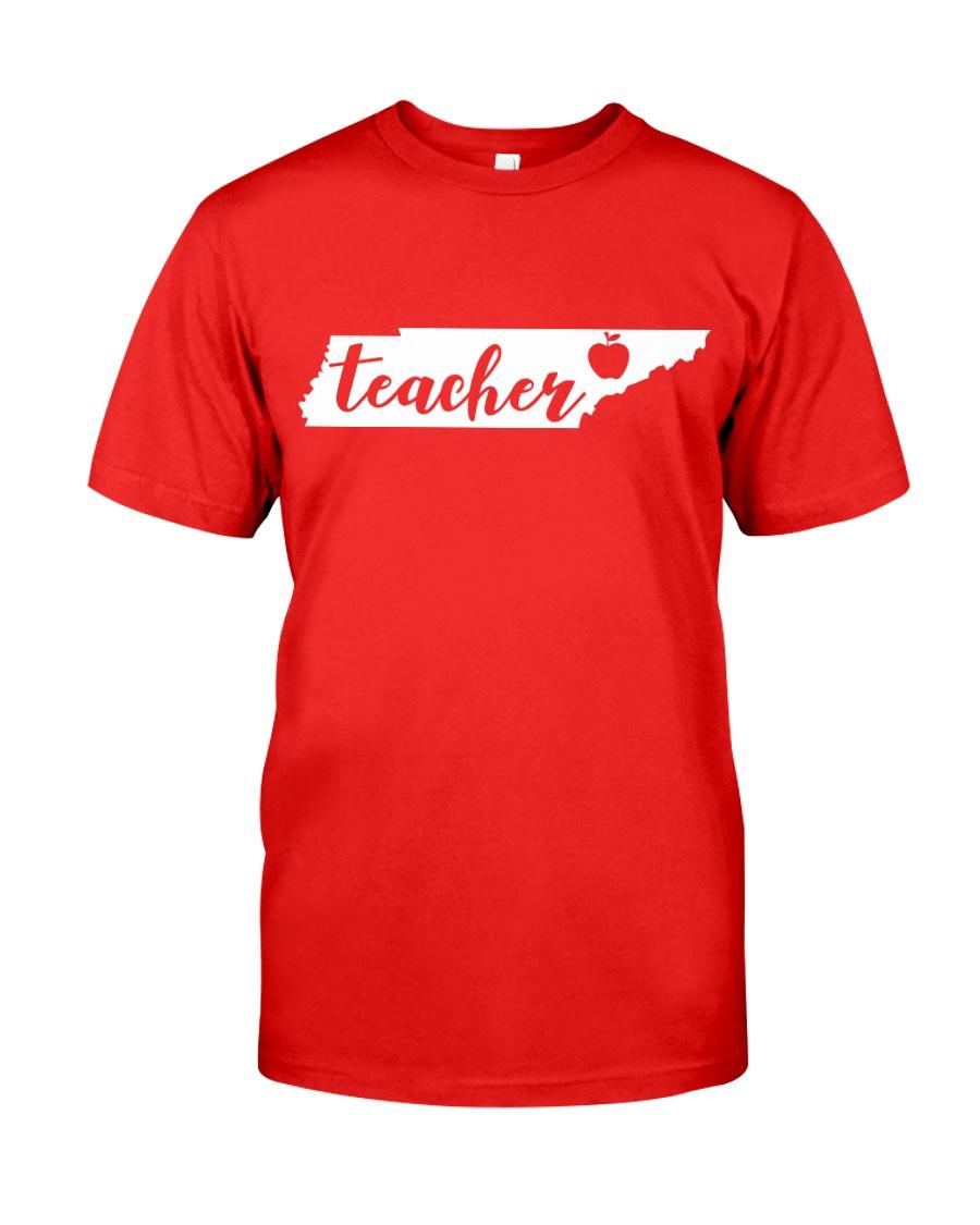 Tennessee Teacher - Map Classic T-Shirt