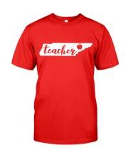 Tennessee Teacher - Map Classic T-Shirt front