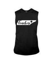 Tennessee Teacher - Map Sleeveless Tee thumbnail