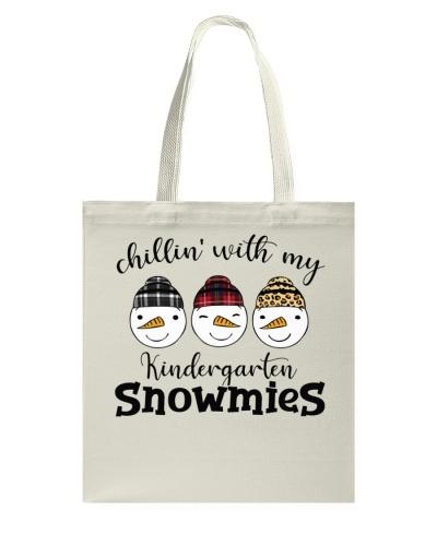 Teacher - Chillin with my Kindergarten snowmies