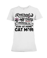 Retired  - Stay at Home Cat Mom Premium Fit Ladies Tee thumbnail