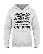 Retired  - Stay at Home Cat Mom Hooded Sweatshirt thumbnail