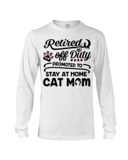 Retired  - Stay at Home Cat Mom Long Sleeve Tee thumbnail