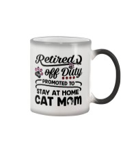 Retired  - Stay at Home Cat Mom Color Changing Mug thumbnail