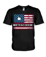 Teacher Flag V-Neck T-Shirt thumbnail