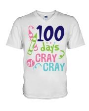 100 days of Cray Cray V-Neck T-Shirt thumbnail