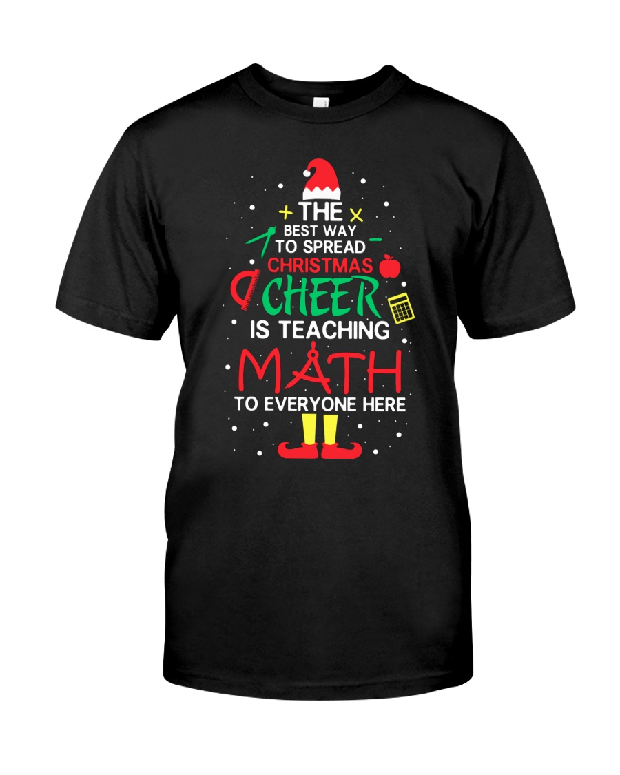 Math Teacher - The best way to spread Christmas Classic T-Shirt