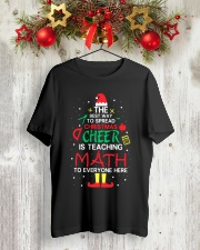 Math Teacher - The best way to spread Christmas Classic T-Shirt lifestyle-holiday-crewneck-front-2