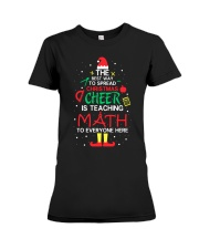 Math Teacher - The best way to spread Christmas Premium Fit Ladies Tee thumbnail