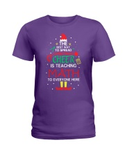 Math Teacher - The best way to spread Christmas Ladies T-Shirt thumbnail