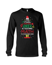 Math Teacher - The best way to spread Christmas Long Sleeve Tee thumbnail