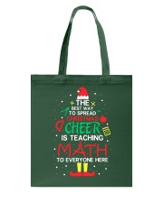 Math Teacher - The best way to spread Christmas Tote Bag thumbnail