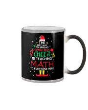 Math Teacher - The best way to spread Christmas Color Changing Mug thumbnail