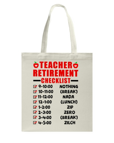 Retired Teacher - Checklist