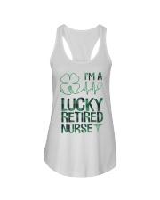 Lucky Retired Nurse Ladies Flowy Tank thumbnail