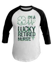Lucky Retired Nurse Baseball Tee thumbnail