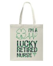 Lucky Retired Nurse Tote Bag thumbnail