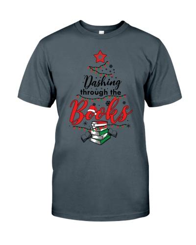 Christmas - Dashing Through The Books -Books Lover