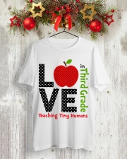 Third Grade Teacher - Teaching tiny humans Classic T-Shirt lifestyle-holiday-crewneck-front-2