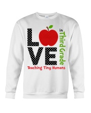 Third Grade Teacher - Teaching tiny humans Crewneck Sweatshirt thumbnail