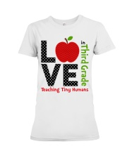 Third Grade Teacher - Teaching tiny humans Premium Fit Ladies Tee thumbnail