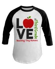 Third Grade Teacher - Teaching tiny humans Baseball Tee thumbnail