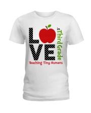 Third Grade Teacher - Teaching tiny humans Ladies T-Shirt thumbnail