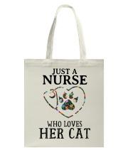 Nurse - Loves her cat Tote Bag thumbnail