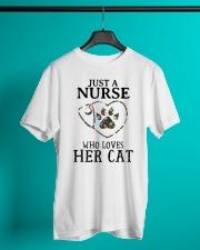 Nurse - Loves her cat Classic T-Shirt lifestyle-mens-crewneck-front-3