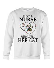 Nurse - Loves her cat Crewneck Sweatshirt thumbnail